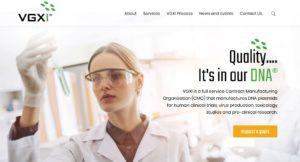 VGXI Website Screenshot